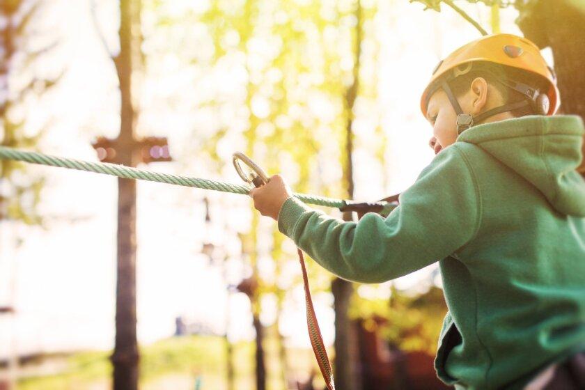 Kids will flip to zipline at an adventure camp.