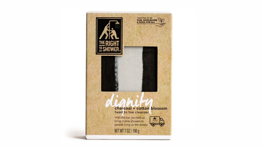 ?Dignity? Charcoal and Cotton Blossom Bar Soap from The Right to Shower. This foamy bar soap contai