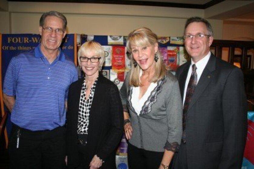 Tomas Shockey, Susan Callahan, Robin Chappelow and Rotary President Greg Grajek. Photo/Karen Billing
