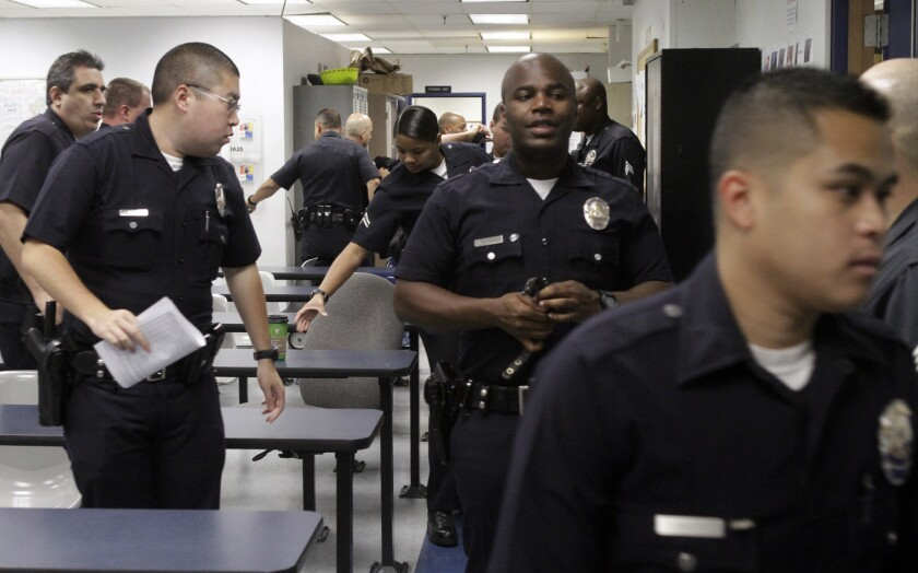 LAPD salary talks