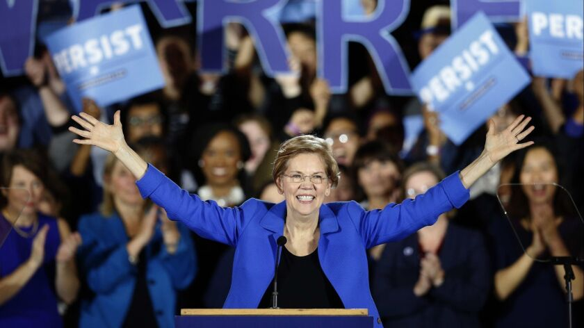 Sen. Elizabeth Warren (D-Mass.) after the midterm election on Nov. 6.