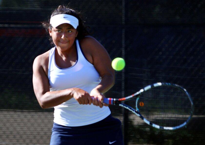Bonita Vista's Valerie Valencia won three singles sets to help the Barons win the Division III championships.