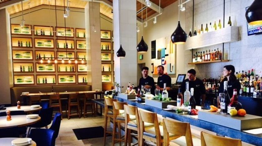 The new full-service restaurant, Bazille, on the second floor of the rebuilt Nordstrom UTC offers cr