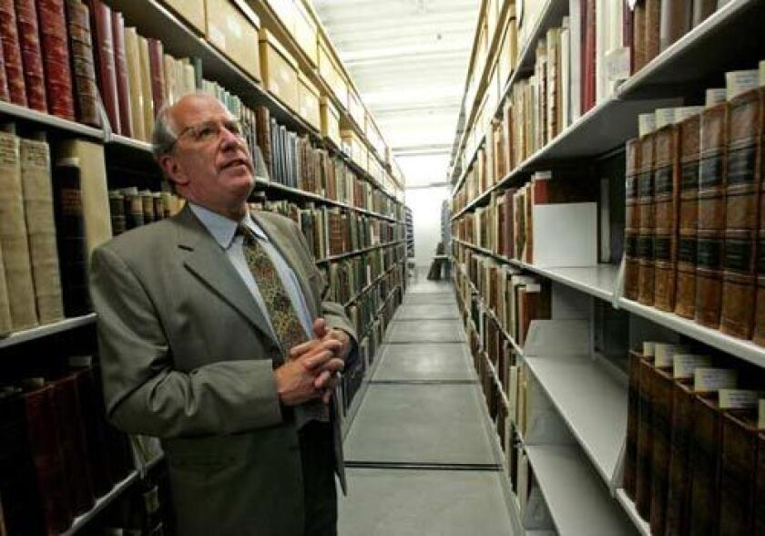 AT THE HELM: Steven S. Koblick, president of the Huntington Library, has guided the refurbishment of the collection down to the last detail.