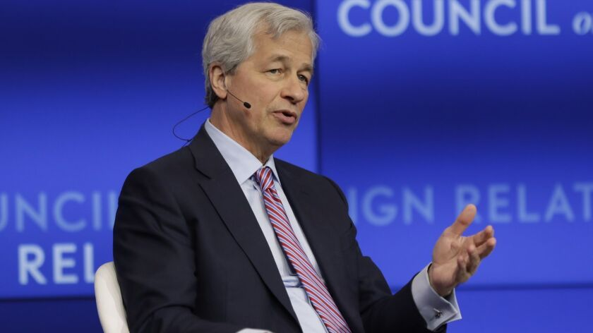 Jamie Dimon, Chairman and CEO, JPMorgan Chase, speaks at the Council on Foreign Relations Thursday,
