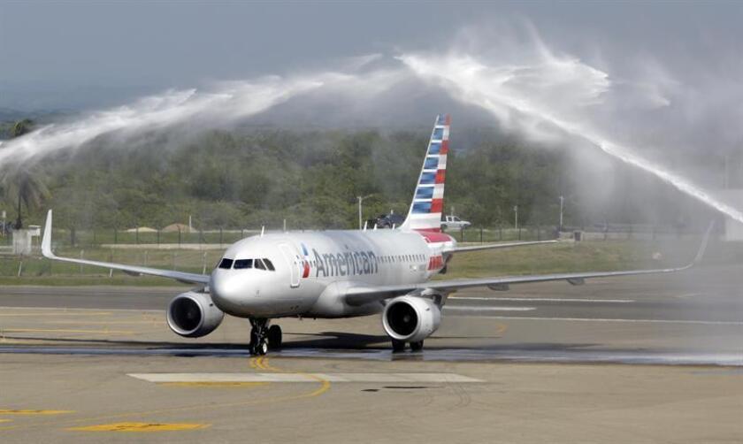 En Colombia, además de este trayecto nuevo, American Airlines ya opera rutas desde Bogotá, Medellín, Cali, Medellín, Barranquilla y Cartagena hacia Miami, así como otra entre la capital y Dallas. EFE/Archivo