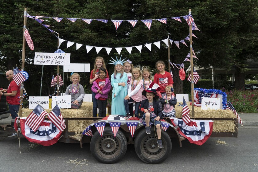 A previous 4th of July Parade in Half Moon Bay.