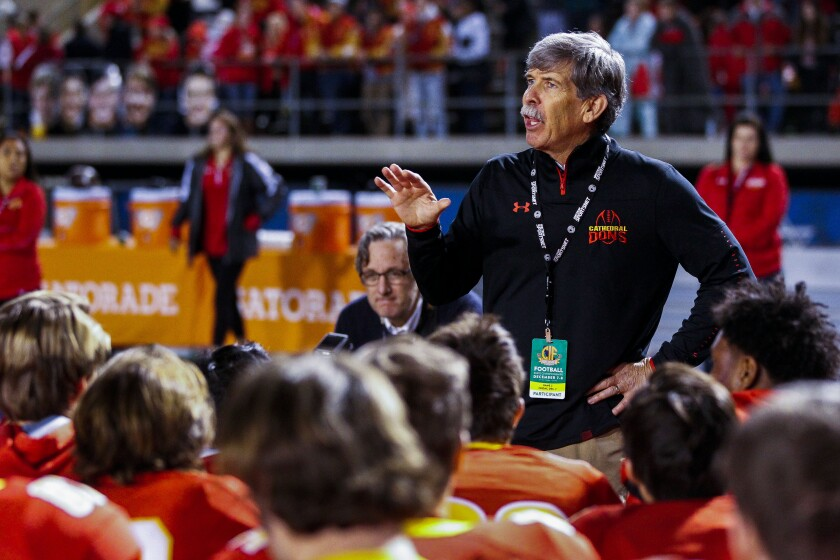 """We don't want to be competitive — we're here to win,"" Cathedral Catholic coach Sean Doyle said before Friday's game against Corona Centennial."