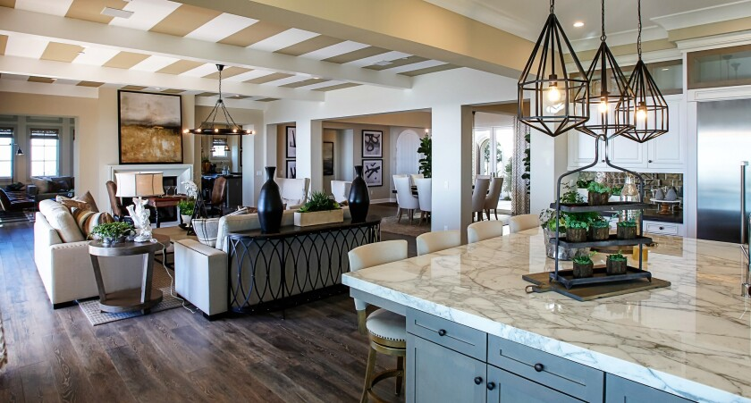 Great room in The Estates San Elijo Hills