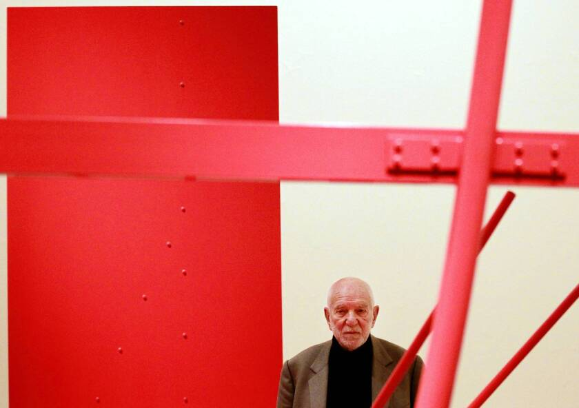 Sculptor Anthony Caro's work has been displayed in museums and exhibitions around the world, including the Museo Correr in Venice, New York's Museum of Modern Art and the Royal Academy of Arts in London, shown above in 2011.