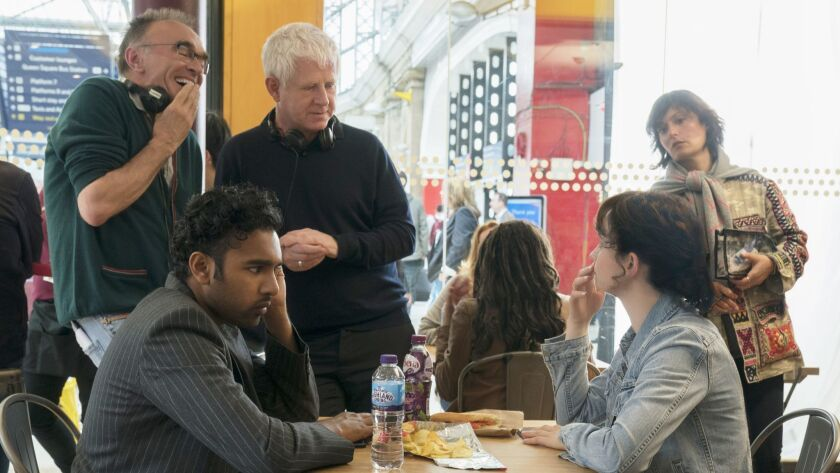 EXCLUSIVE***SUMMER SNEAKS 2019--Director Danny Boyle(left) and writer Richard Curtis on the set of ""