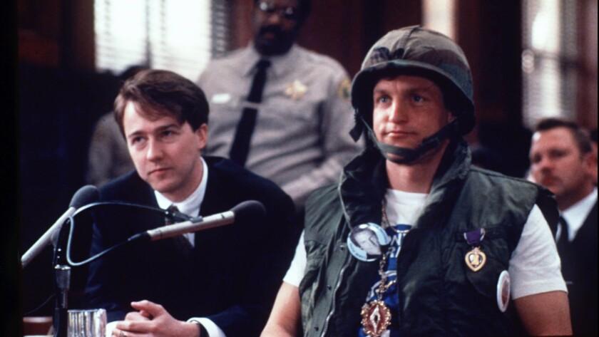 """Edward Norton, left, and Woody Harrelson in the 1996 movie """"The People vs. Larry Flynt."""""""
