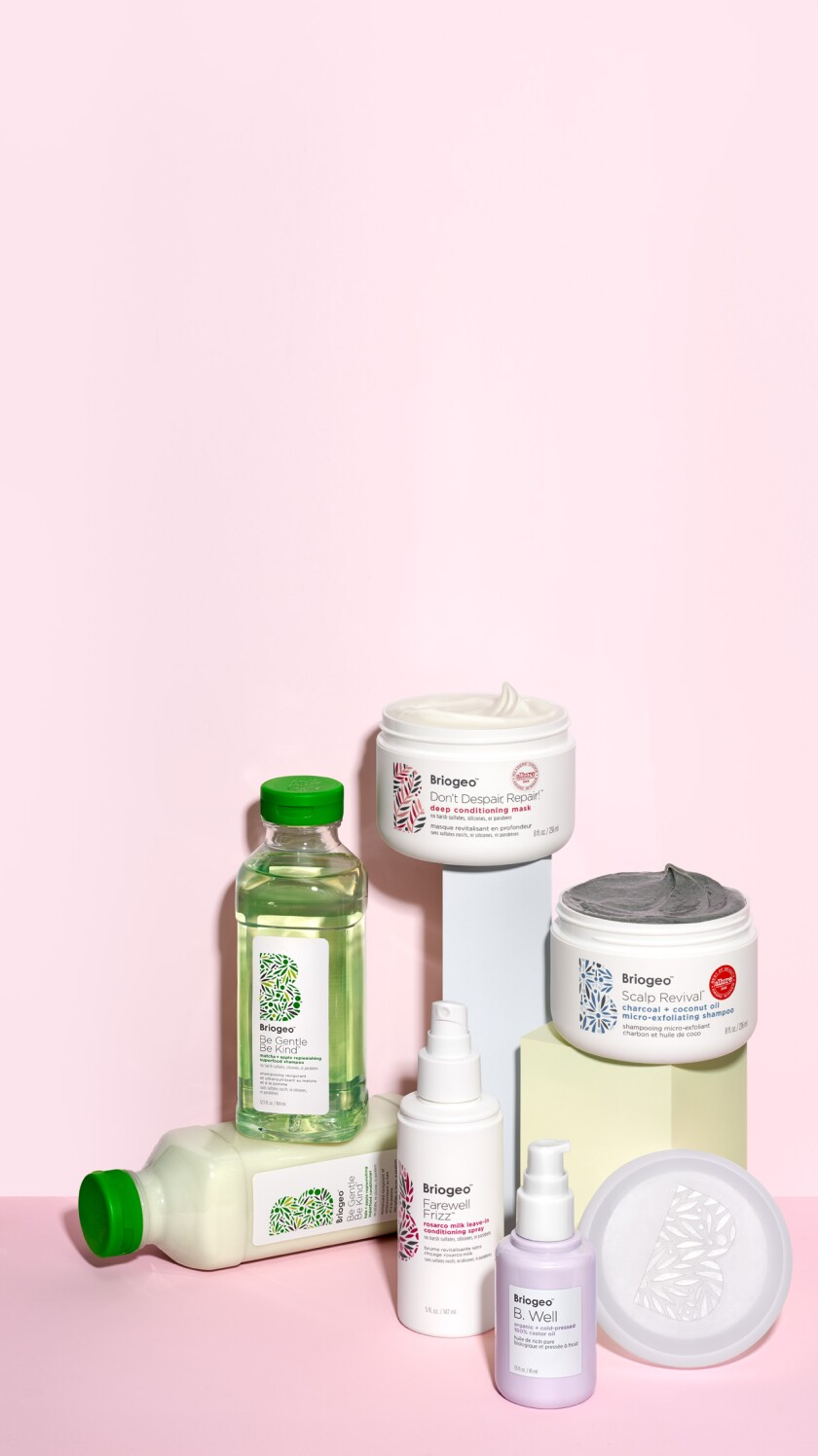 Bestselling products from clean haircare line Briogeo.