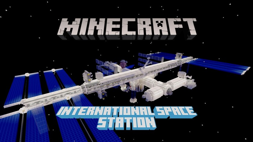 """""""Minecraft's"""" educational content, which includes a look at the International Space Station, remains free through the end of June."""