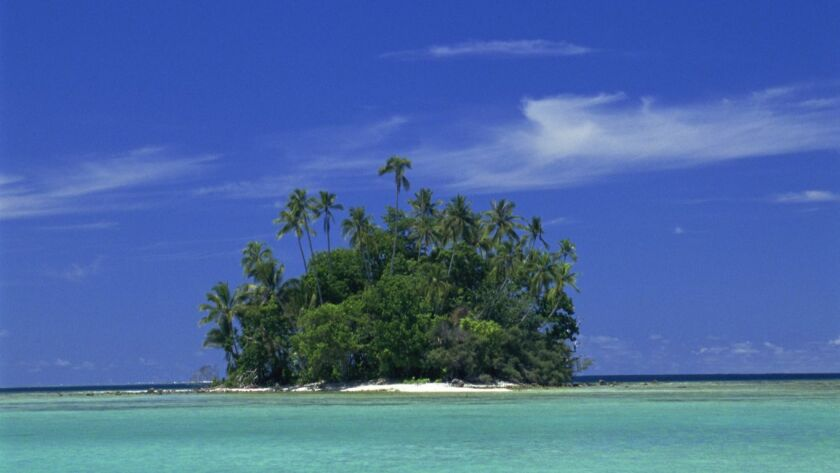 Uninhabited Coral Island (between Munda and Lola Is.), Solomon Islands
