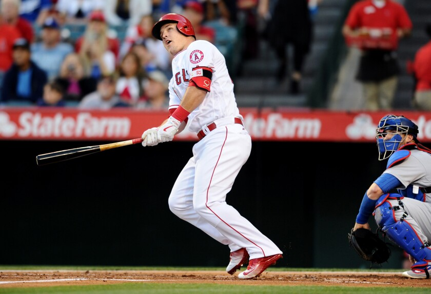 How fast can the Angels become a contender while Mike Trout, watching a home run against the Dodgers in May, is still the best player in baseball?