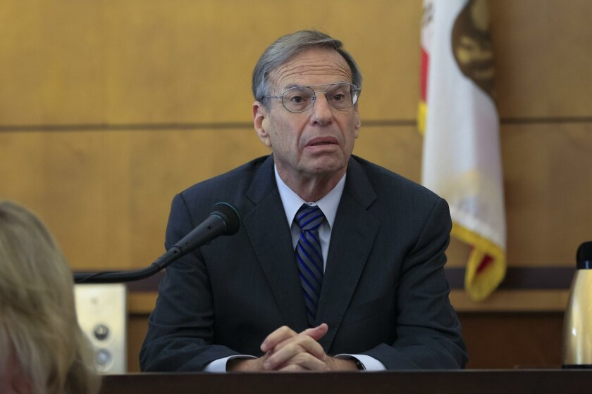 Former mayor of San Diego Bob Filner testifies in the sexual harassment civil trial against him Wednesday.