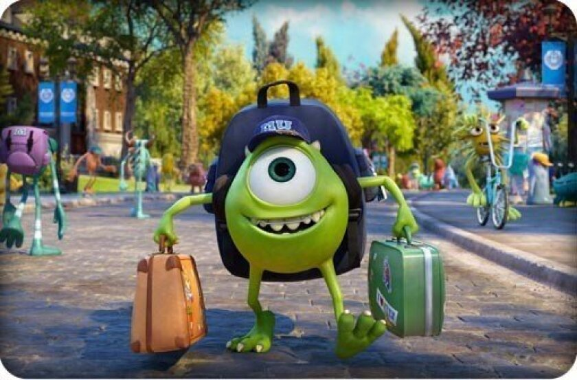 """A scene from Pixar's """"Monsters University,"""" which had the second-biggest opening ever for a Pixar movie."""