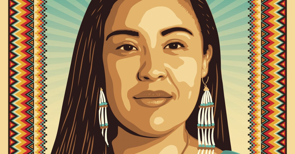 A week from the election, this poster harnesses the power of Native voting rights