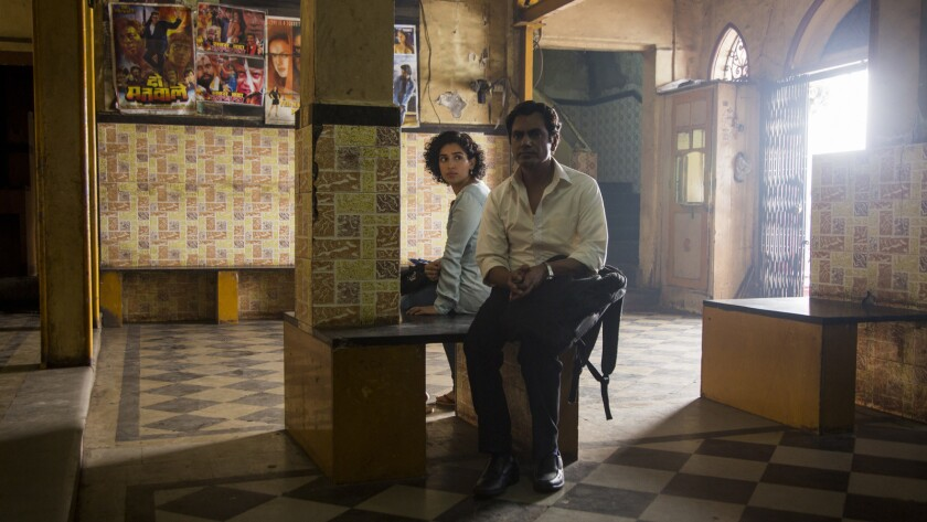 "(L-R)- Sanya Malhotra and Nawazuddin Siddiqui in a scene from ""Photograph."" Credit: Joe D?Souza/Amaz"