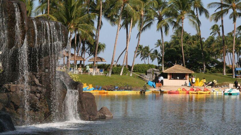 The Hilton Waikoloa Village on the Big Island of Hawaiii. Sights and scenes on the Big Island of Haw
