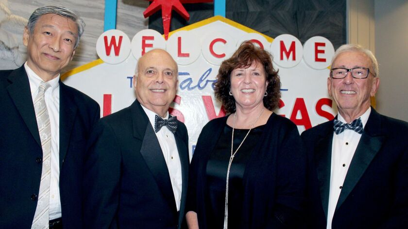 Glendale Memorial's Evening of Wine & Roses brought out dignitaries, from left, Hospital Board Chair