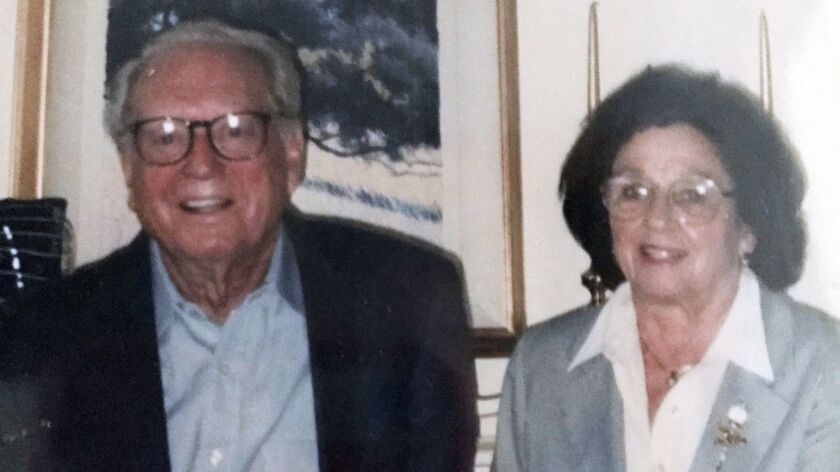 This undated photo provided by their son Mike Rippey shows Charles and Sara Rippey. Charles, 100, and Sara, 98, were unable to leave their Napa home, and died when the Tubbs fire swept through.