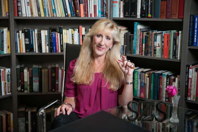 San Diego author Sarah Z. Sleeper, photographed in her home in Rancho Santa Fe.