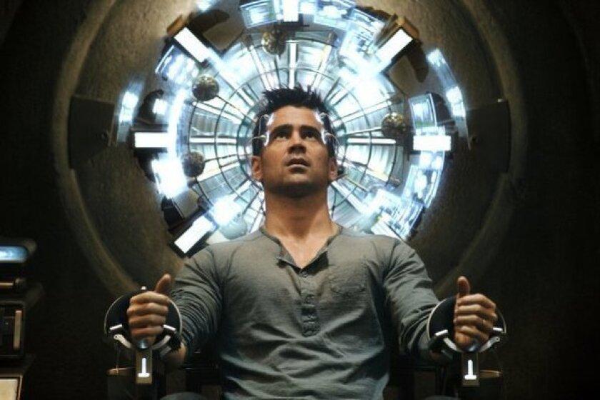 "Colin Farrell stars in ""Total Recall."""