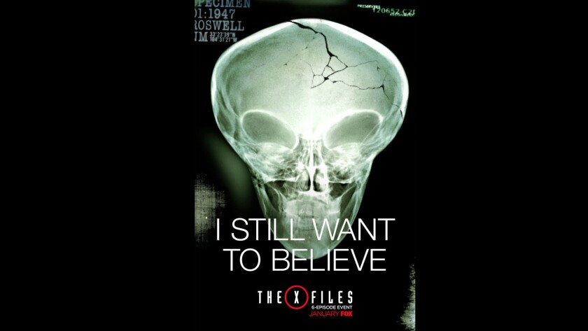 """The latest poster for the continuation of the iconic show """"The X-Files."""""""
