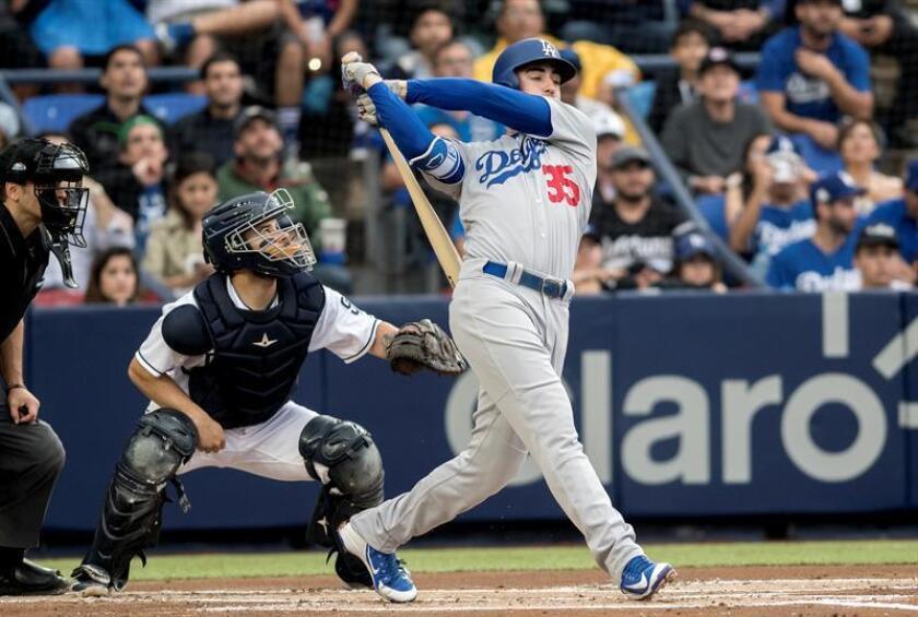 Cody Bellinger, primera base de los Dodgers de Los Ángeles. EFE/Archivo
