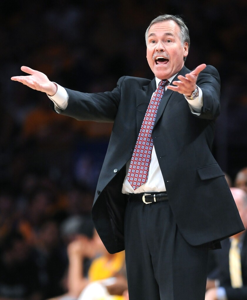 Lakers Coach Mike D'Antoni appears to have abandoned his quest of having the Lakers run a speedy offense.