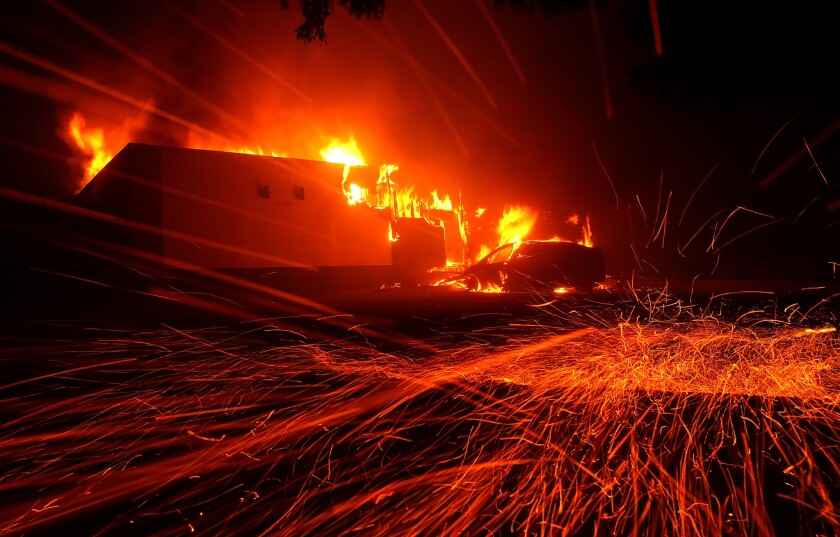 *2018 Year In Focus - News* Rapidly-Spreading Wildfire In California's Butte County Prompts Evacuations