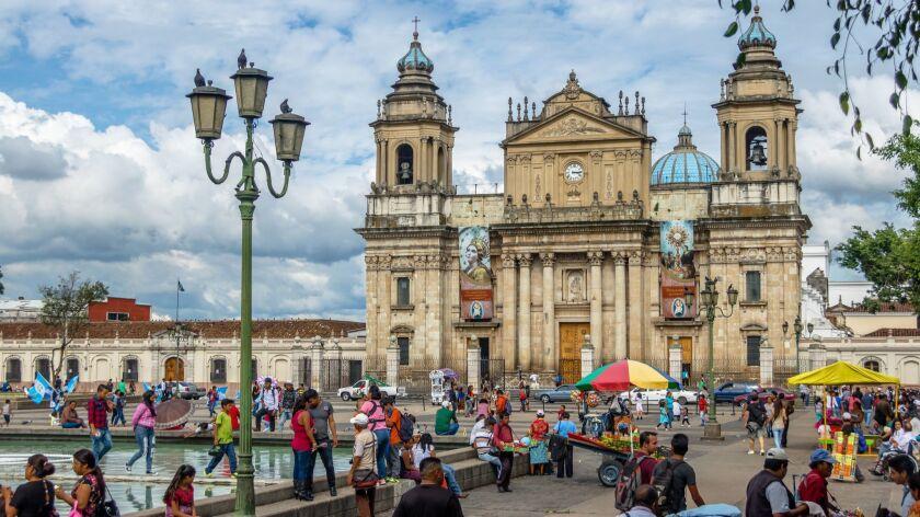 Guatemala City Metropolitan Cathedral at Plaza de la Constitucion (Constitution Square) Guatemala City, Guatemala