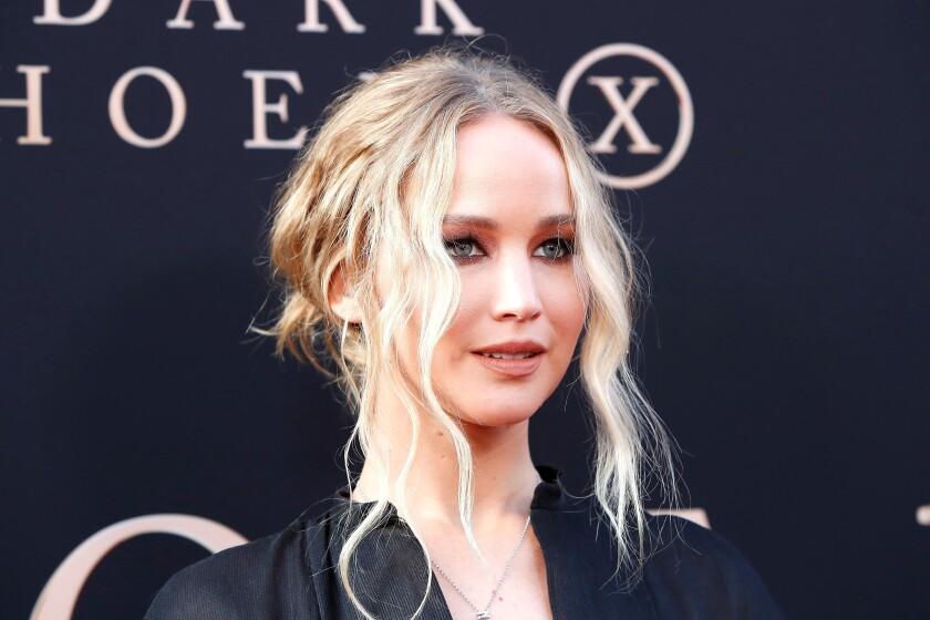 En la imagen un registro de la actriz estadounidense Jennifer Lawrence