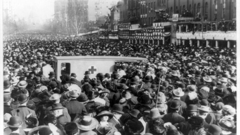 1913 protest march for suffrage