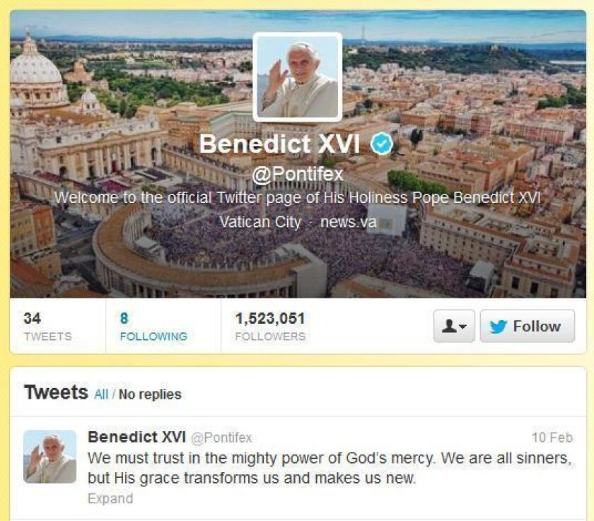 Twitter reacts to pope's resignation, but @Pontifex still silent