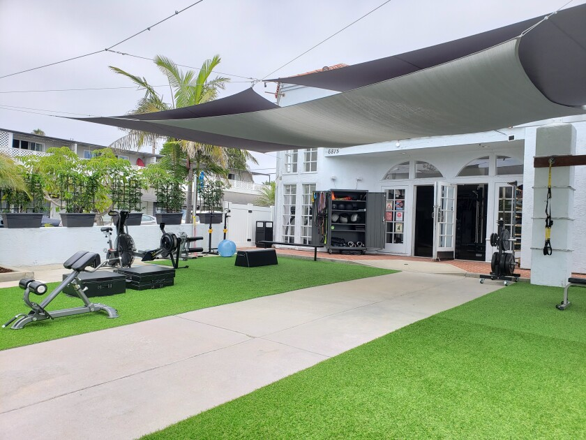 Bird Rock Fit has turned its parking lot into an outdoor exercise space.