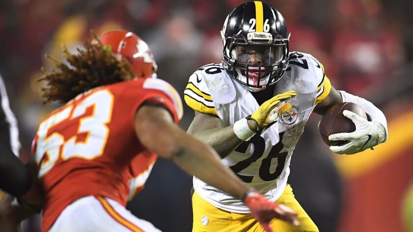 Steelers running back Le'Veon Bell gained 170 yards in 30 carries against the Chiefs on Sunday.