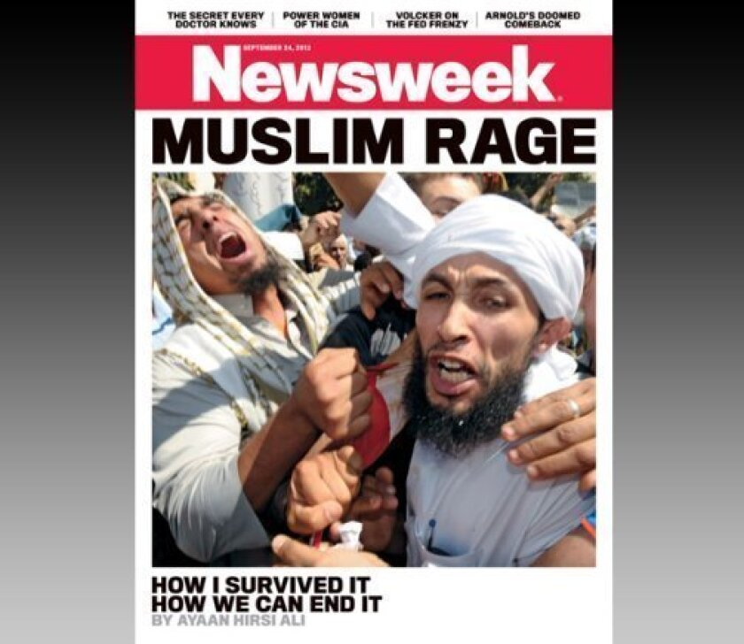 """Newsweek's controversial """"Muslim Rage"""" cover."""