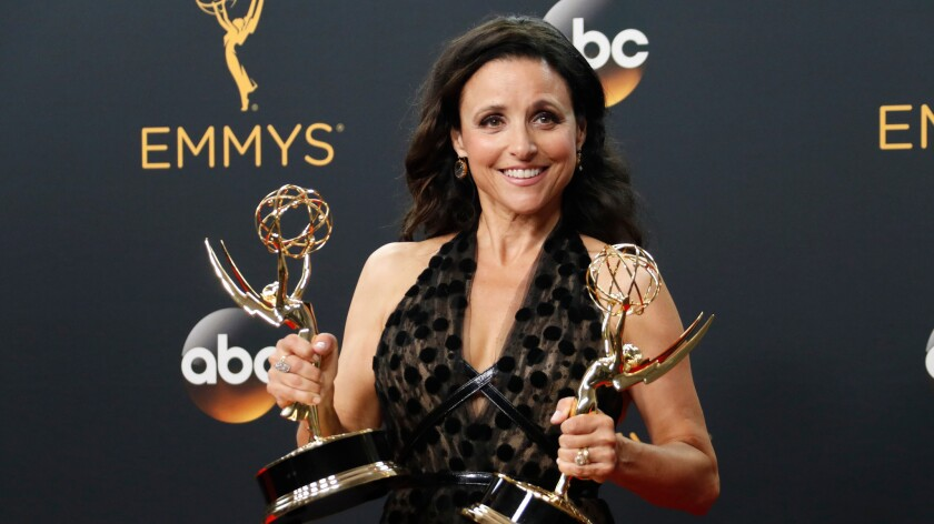 """Julia Louis-Dreyfus said during her acceptance speech for lead actress in a comedy: """"I think that 'Veep' has torn down the wall between comedy and politics."""""""