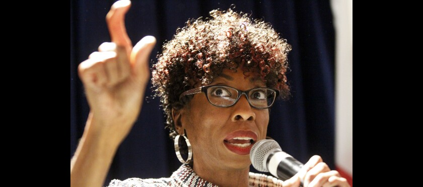San Diego Councilwoman Monica Montgomery speaks to San Diegans in this file photo.