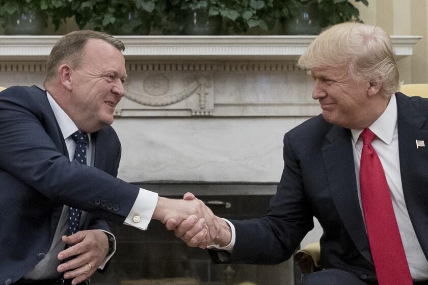 In 2017, President Trump met with then-Danish Prime Minister Lars Loekke Rasmussen at the White House.