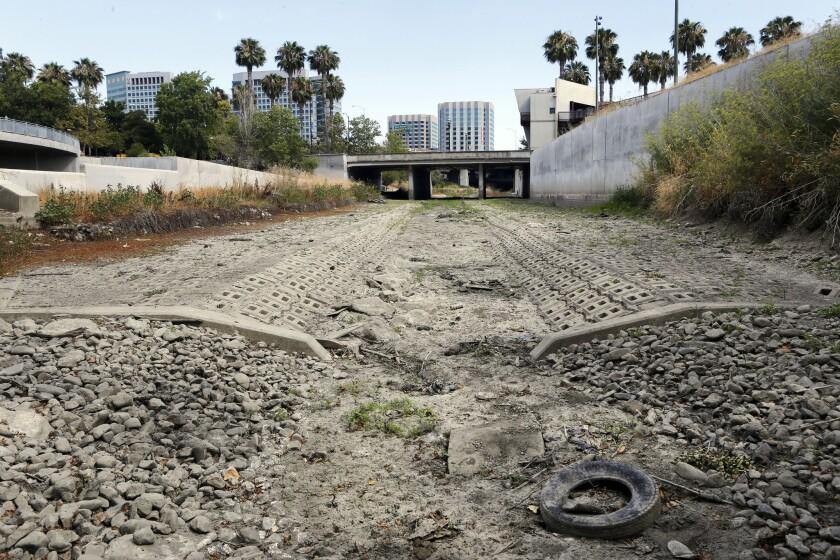 Dry river in San Jose