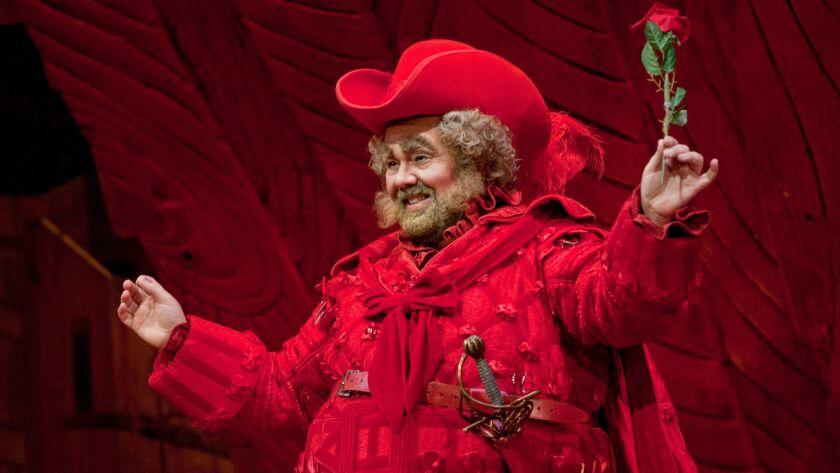 "Italian baritone Roberto de Candia as Falstaff in San Diego Opera's ""Falstaff."""