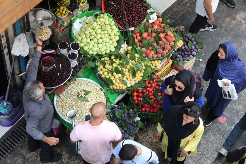 A market in Tehran, Iran
