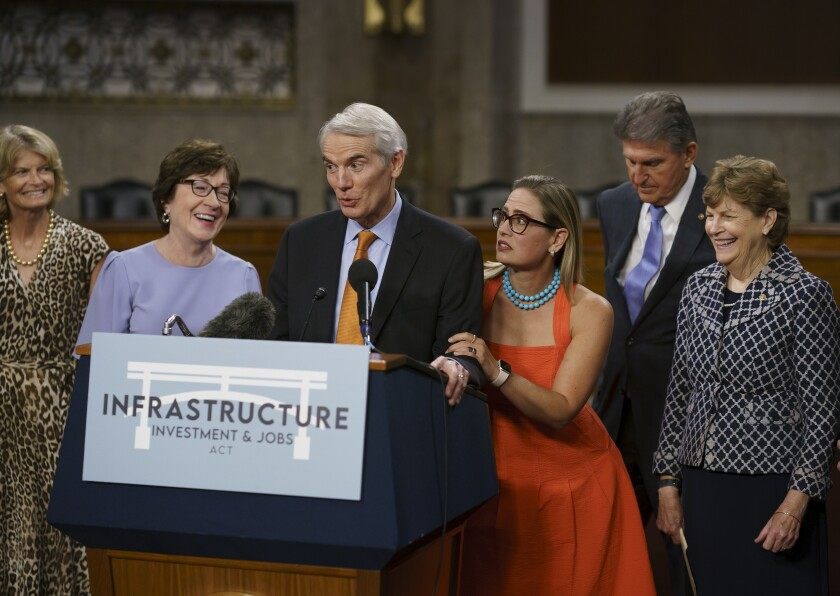 The bipartisan group of Senate negotiators