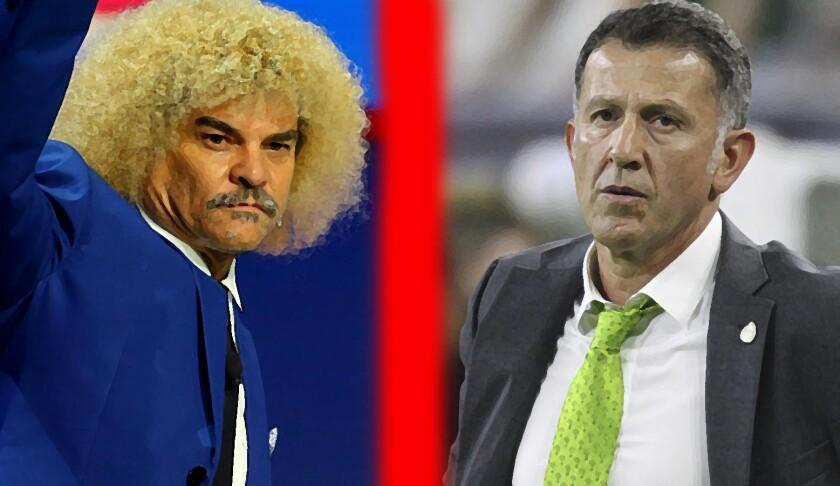 El ex futbolista Carlos 'Pibe' Valderrama (i) se fue con todo contra Juan Carlos Osorio, entrenador de México.