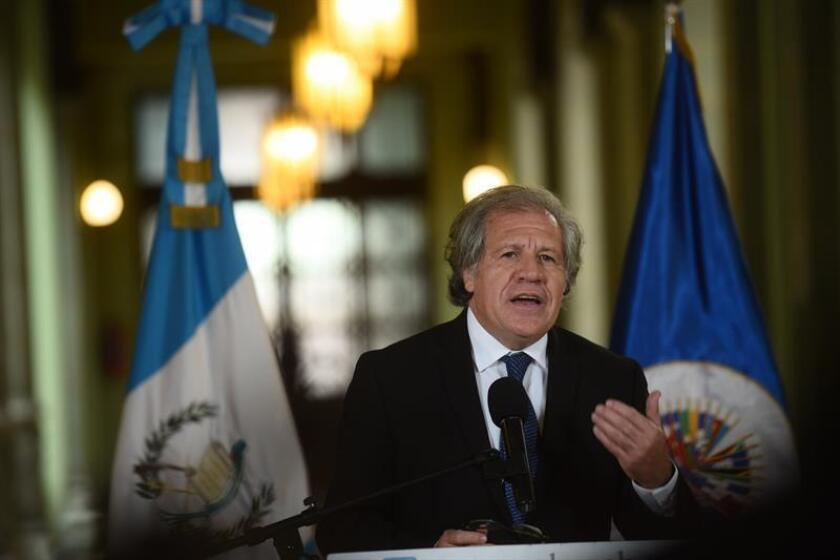 El secretario general de la OEA, Luis Almagro, habla a la prensa. EFE/Archivo
