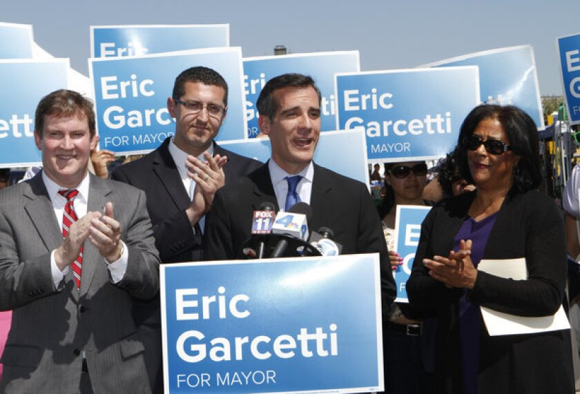 Garcetti and former challengers